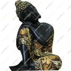 Будда в темной одежде , отдыхающий, 21 см
