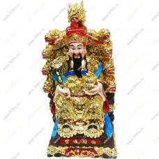 Бог богатства Туа Пех Конг на троне с девятью драконами