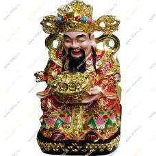 Бог богатства на троне с вазой богатства - для большого богатства