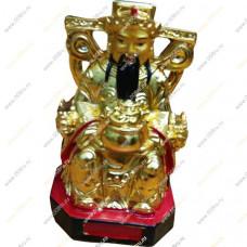 Бог богатства на троне с вазой богатства (13 см)