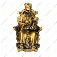 Бог богатства на троне со слитком и жезлом жуи -для большого богатства