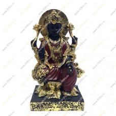 """Богиня """"Лакшми"""" в лотосе (черная с золотом)Для богатств и процветания"""