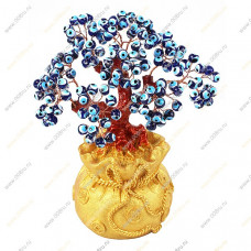"""Дерево """"Глазки"""", в мешке усыпанной монетками 22 см."""