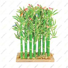 Бамбуковый лес на монетах и золотых слитках для славы и процветания