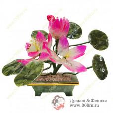 """Цветок """"Три Лотоса"""" символизирует просветление"""" Это очень сильный талисман, придающий чистоту и гармонию любовным отношениям."""