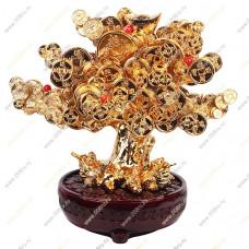 Денежное дерево с сердоликом и жабками в кашпо