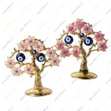 """Дерево от сглаза """"Букет Хризантем с глазками"""" плоское."""