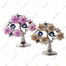 """Дерево от сглаза """" Пять хризантем с глазками"""" плоское"""