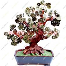 Денежное дерево с крупными монетами 35 см.