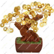 Денежное дерево с крупными монетами 12см