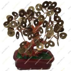 Денежное дерево с монетами 15см