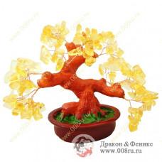 Дерево счастья из камней- самоцветов 22 см.