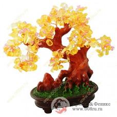 Дерево счастья из камней- самоцветов 22см