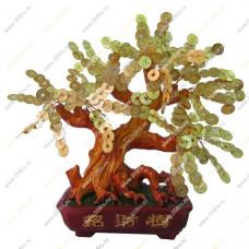 Денежное дерево с монетками, в прямоугольном кашпо 38 см.