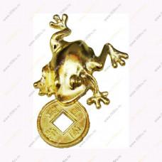 Кошельковая жабка с монетой (без аннотацией) 3,8 см.