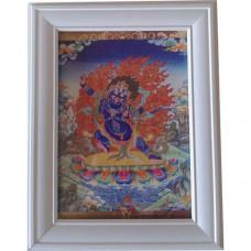 """Картина """"Ваджрапани означает держащий Ваджру"""", хранитель учений и богатства 23см"""