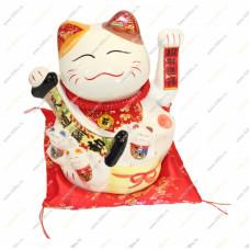 """Кот удачи и счастья """"Манеки-неко 22см Керамика"""
