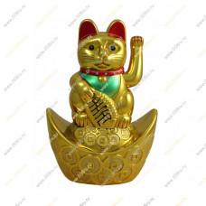 """Кот удачи и счастья """"Манеки-неко"""" 10 см."""