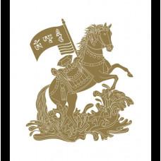"""Наклейка """"Лошадь Ветра с мантрами"""" для победы и успеха"""