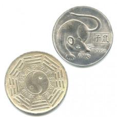 """Китайская монета счастья """"Крыса"""""""