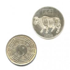 """Китайская монета счастья """"Бык"""""""
