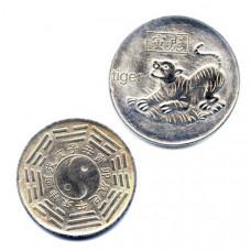 """Китайская монета счастья """"Тигр"""""""