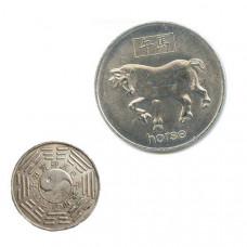 """Китайская монета счастья """"Лошадь"""""""