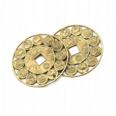 """Китайская монета """"12 животных"""" ажурная, на подвеске"""