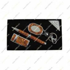 """Подарочный набор 3 в 1 """"Перламутр"""" с брелоком и ручкой"""