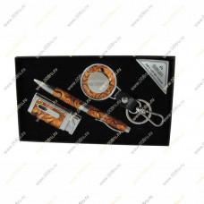 """Подарочный набор 3 в 1 """"Перламутр"""", брелок, ручка и зажигалка."""